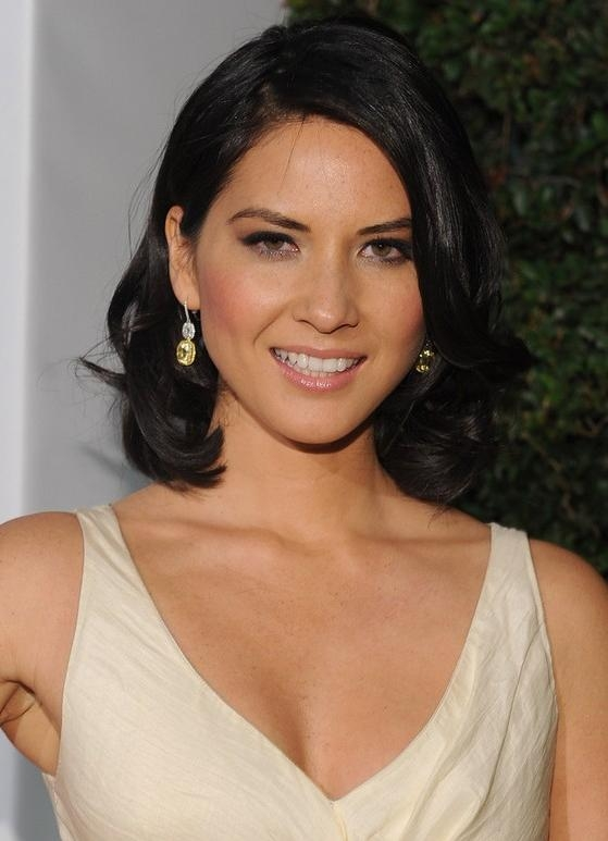Olivia Munn Hairstyle: Mid Length Bob With Side Bangs – Pretty Designs Inside Newest Olivia Munn Bob Hairstyles (View 7 of 15)