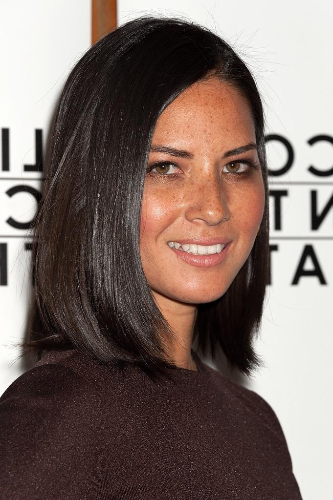 Olivia Munn Shoulder Length Hairstyles – Olivia Munn Hair Intended For Popular Olivia Munn Bob Hairstyles (View 8 of 15)