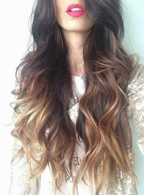 Ombre Long Hairstyles – Billedstrom Inside Ombre Long Hairstyles (View 13 of 15)