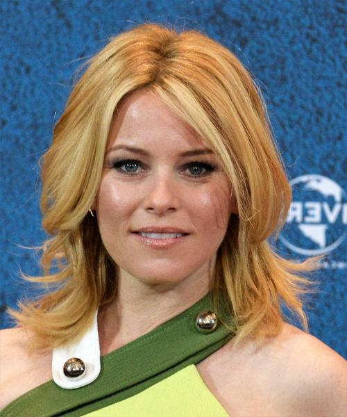 Popular Elizabeth Banks Shoulder Length Bob Hairstyles For Elizabeth Banks Medium Straight Casual Hairstyle – Medium Blonde (View 12 of 15)
