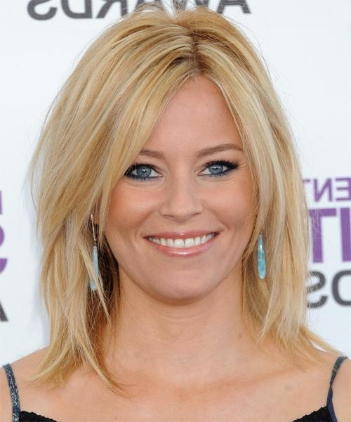 Popular Elizabeth Banks Shoulder Length Bob Hairstyles Inside Elizabeth Banks Medium Straight Casual Hairstyle – Medium Blonde (View 13 of 15)