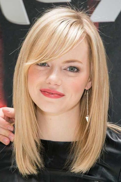 Popular Medium Bob Hairstyles With Side Bangs For Best 25+ Long Bob With Bangs Ideas On Pinterest (View 12 of 15)