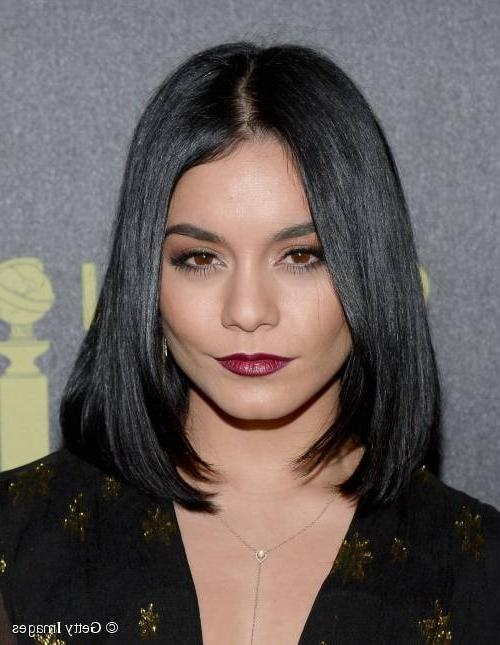 Popular Vanessa Hudgens Bob Hairstyles Inside Vanessa Hudgens Debuts Sleek Long Bob Hairstyle On The Red Carpet! (View 6 of 15)