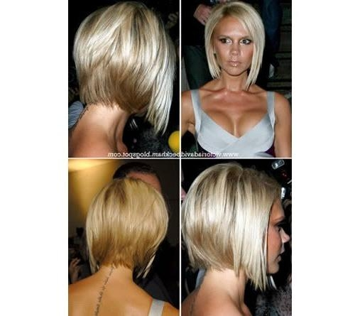 Popular Victoria Beckham Graduated Choppy Bob Hairstyles Inside Bob Hairstyle Back View (View 10 of 15)