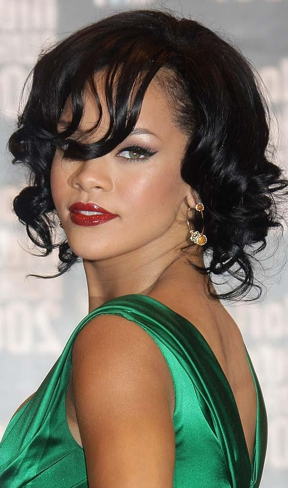 Preferred Rihanna Side Swept Big Curly Bob Hairstyles Inside 10 Curly Bob Hairstyles To Inspire You (View 13 of 15)