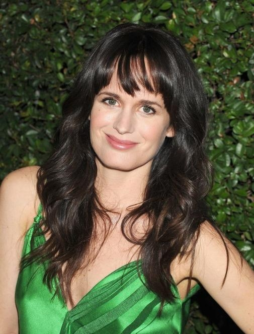 Recent Black Long Hairstyles With Bangs And Layers For Elizabeth Reaser Long Layered Black Hairstyles With Bangs (View 14 of 15)