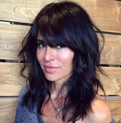 Recent Black Long Hairstyles With Bangs And Layers Regarding Best 25+ Layered Hairstyles With Bangs Ideas On Pinterest | Long (View 15 of 15)