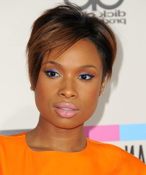 Recent Jennifer Hudson Bob Hairstyles Intended For Jennifer Hudson Short Straight Formal Hairstyle With Side Swept (View 12 of 15)