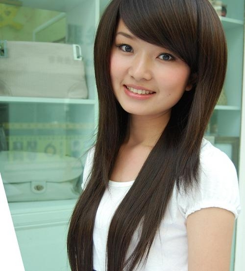 Recent Korean Long Hairstyles For Round Faces Inside Long Hairstyles For Asian Girls With Round Faces Photos – New (View 14 of 15)