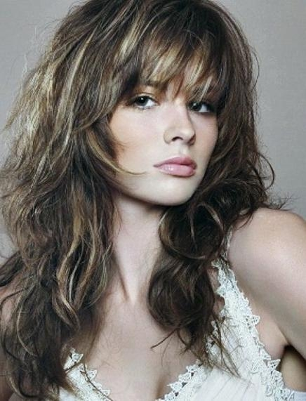 Recent Long Haircuts With Layers And Bangs In 20 Long Layered Haircuts With Bangs (View 14 of 15)