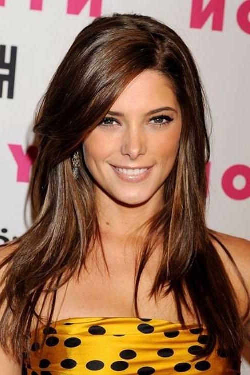 Recent Long Haircuts With Side Bangs Throughout 20+ Long Hair Side Swept Bangs | Hairstyles & Haircuts 2016 –  (View 14 of 15)
