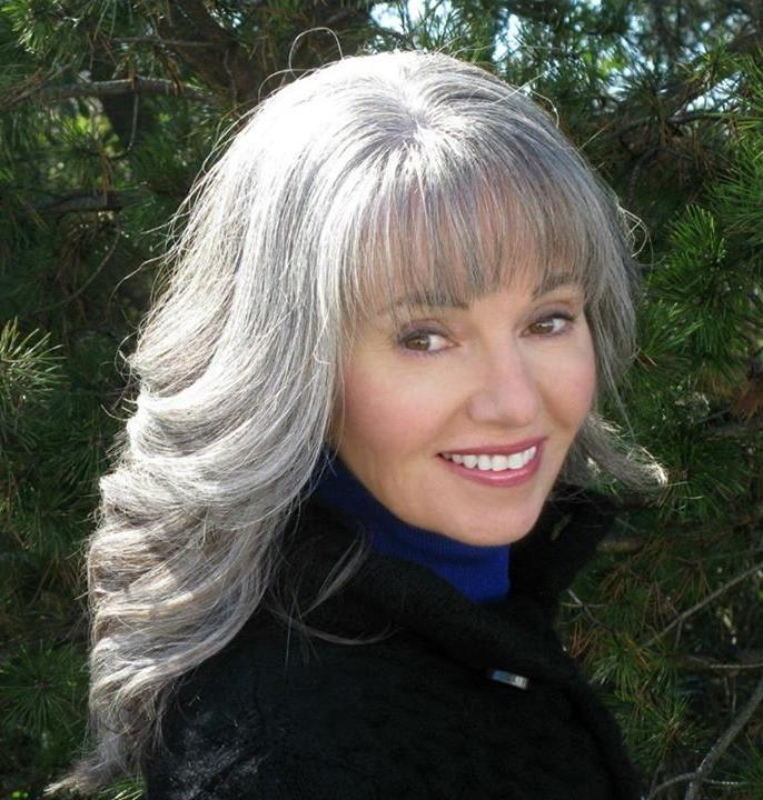 Recent Long Hairstyles For Grey Haired Woman With Regard To 353 Best ***silver*** Images On Pinterest | White Hair, Gray (View 15 of 15)
