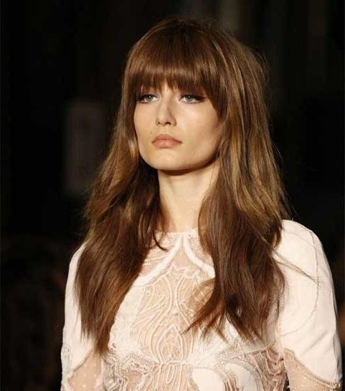 Recent Long Hairstyles For Round Faces With Bangs With Regard To 20 Good Long Hairstyles Round
