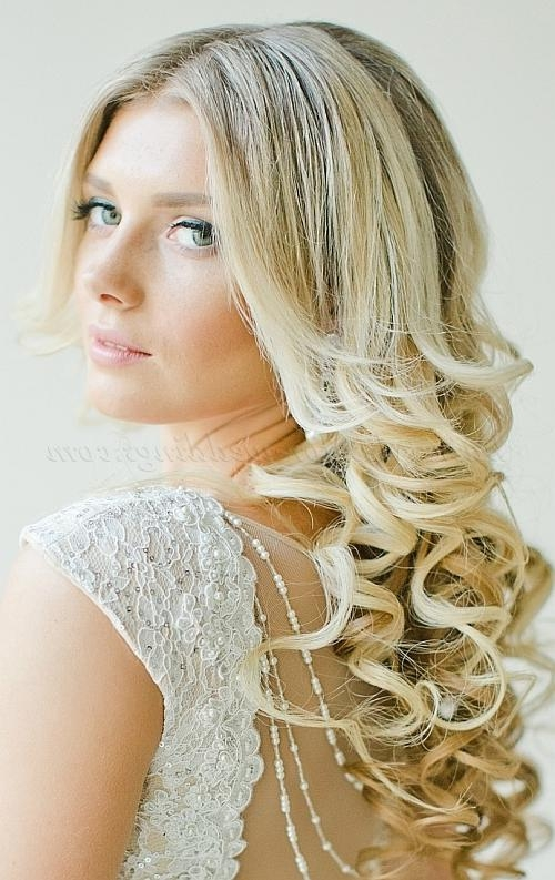 Recent Long Hairstyles For Weddings Hair Down Inside Long Wedding Hairstyles – Hair Down Wavy Wedding Hairstyle (View 13 of 15)
