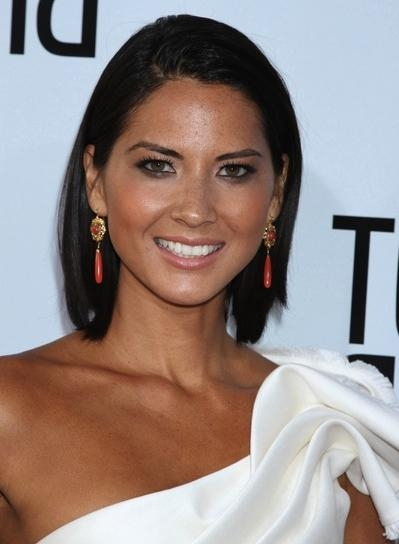 Recent Olivia Munn Shoulder Length Bob Hairstyles For Olivia Munn – Beauty Riot (View 14 of 15)