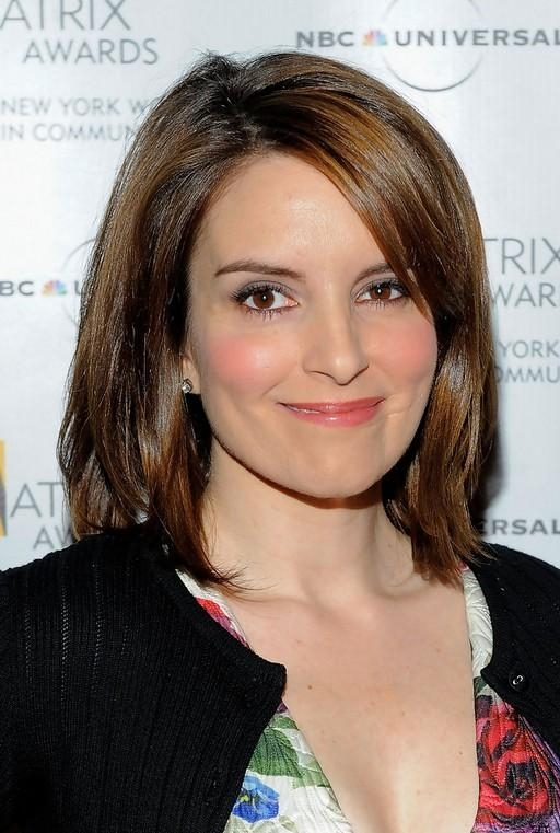 2019 Latest Tina Fey Shoulder Length Bob Hairstyles