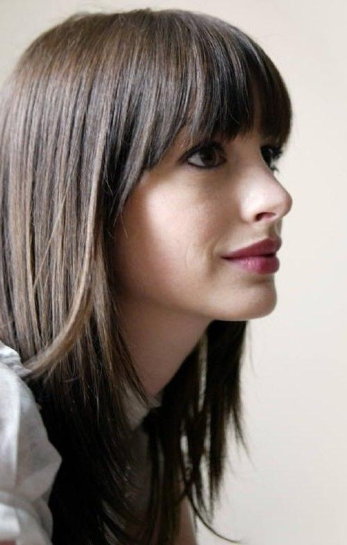 Recent Trendy Long Hairstyles With Bangs Inside Best 25+ Medium Hairstyles With Bangs Ideas On Pinterest (View 13 of 15)