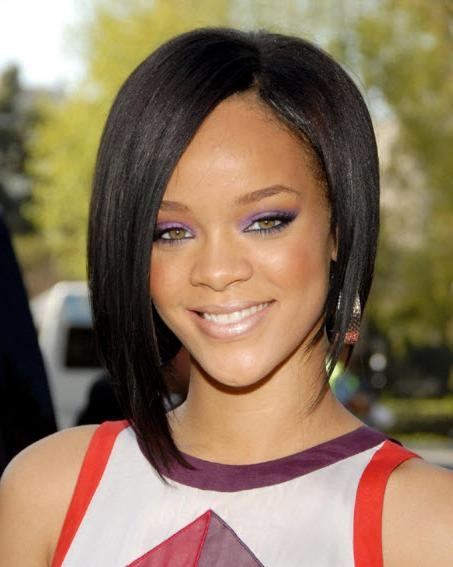 Rihanna Shoulder Length Popular Hairstyle  Hairstyles Portal Intended For 2017 Rihanna Shoulder Length Bob Hairstyles (View 10 of 15)