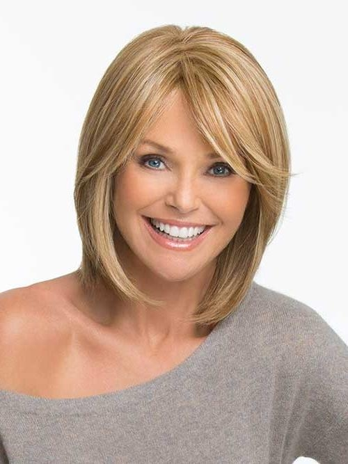 Featured Photo of Long Bob Hairstyles With Side Swept Bangs