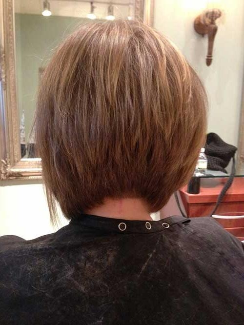 Short Hairstyles 2016 – 2017 Within 2018 Inverted Bob Haircut Back View (View 13 of 15)