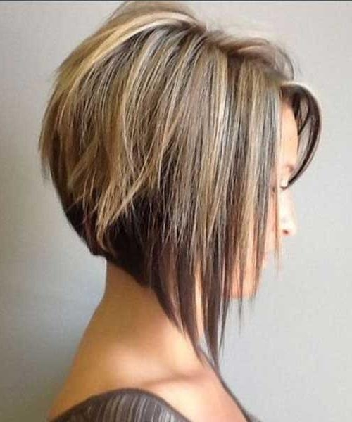 Short Hairstyles Pertaining To 2018 Short Inverted Bob Hairstyles For Fine Hair (View 12 of 15)