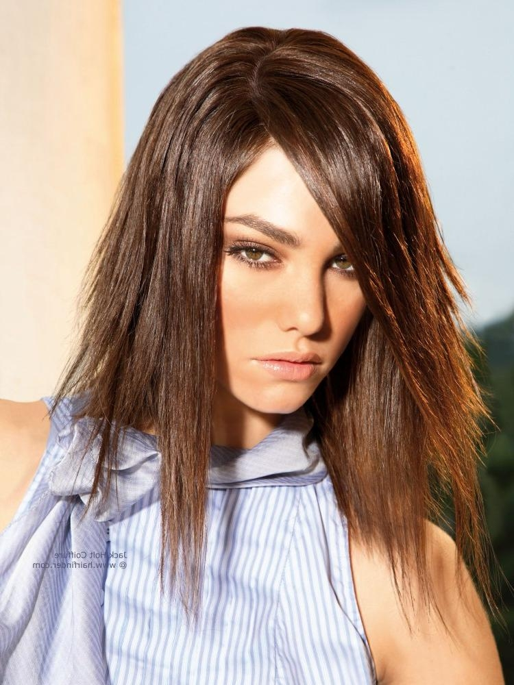 Shoulder Length Hair, Razor Cut And Deeply Layered For A Ragged Look Inside Razor Cut Long Hairstyles (View 11 of 15)