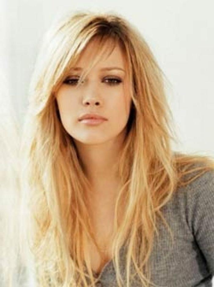 Side Swept Bangs With Long Layered Hair Looks Sassy On Hilary Duff For Sassy Long Hairstyles (View 11 of 15)