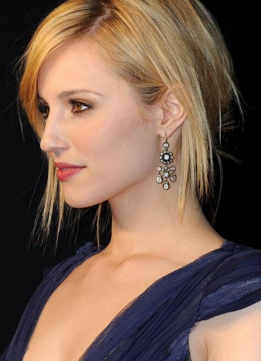 Sleek Short Haircut For Women: Dianna Agron's Hairstyle In Preferred Dianna Agron Bob Hairstyles (View 14 of 15)