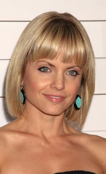 Sophisticated Allure Throughout 2018 Mena Suvari Shoulder Length Bob Hairstyles (View 7 of 15)
