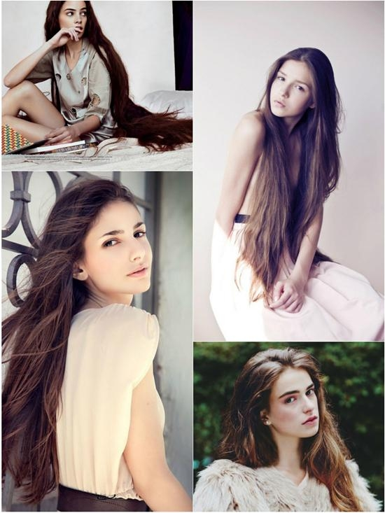 Super Long Hair In Different Colors With Great Length Hair Within Super Long Hairstyles (View 14 of 15)