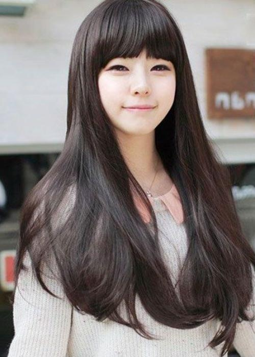 15 inspirations of korean girl long hairstyles