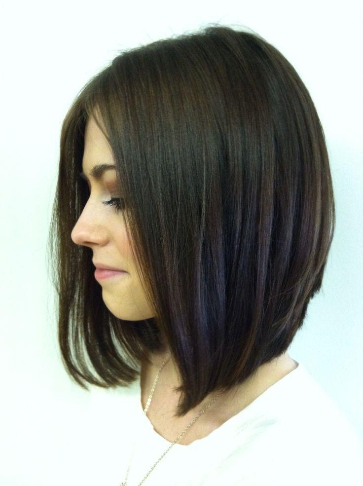 The 25+ Best Long Angled Bobs Ideas On Pinterest | Long Angled Intended For Bob Long Hairstyles (View 15 of 15)