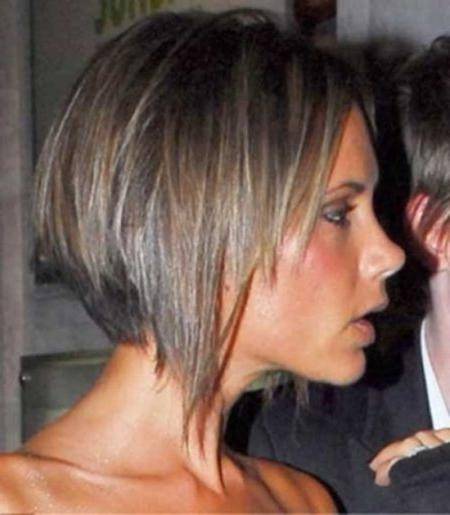 The Amazing Along With Attractive Victoria Beckham Graduated Bob Throughout Current Victoria Beckham Graduated Choppy Bob Hairstyles (View 13 of 15)