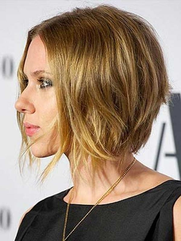 The Most Awesome Scarlett Johansson Bob Haircut For Hairstyle In Widely Used Scarlett Johansson Asymmetrical Choppy Bob Hairstyles (View 14 of 15)