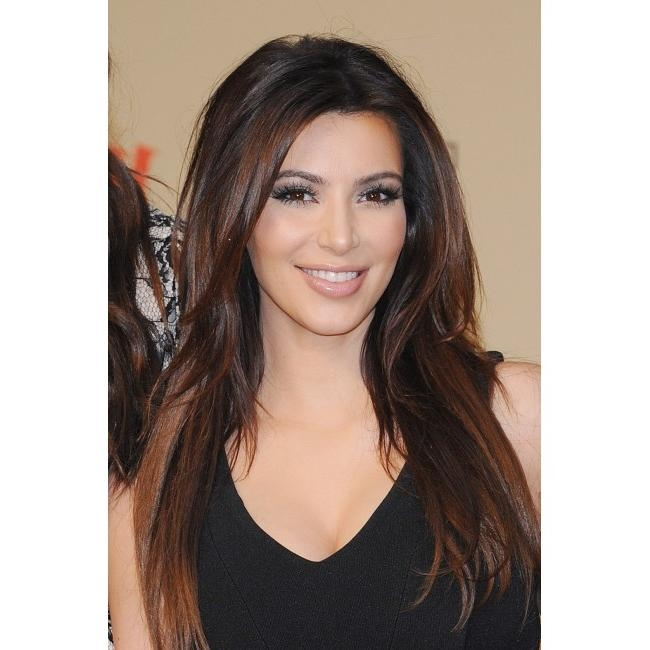 Top Quality 100% Human Hair Kim Kardashian Hot Hairstyles Long For Long Hairstyles For Dark Hair (View 8 of 15)
