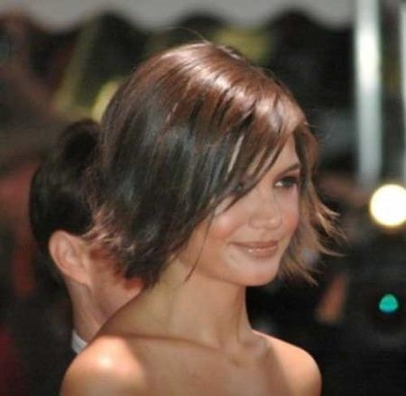 Trendy Katie Holmes Short Bob Hairstyles With Katie Holmes Layered Bob Haircut Pictures Pertaining To Encourage (View 14 of 15)