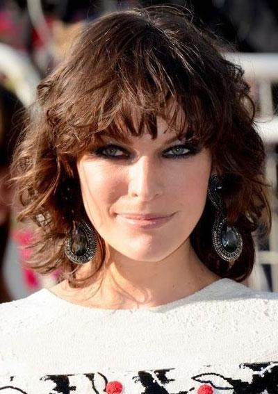 Trendy Milla Jovovich Curly Short Cropped Bob Hairstyles For Blonde Short Curly Bob Hairstyle  (View 13 of 15)