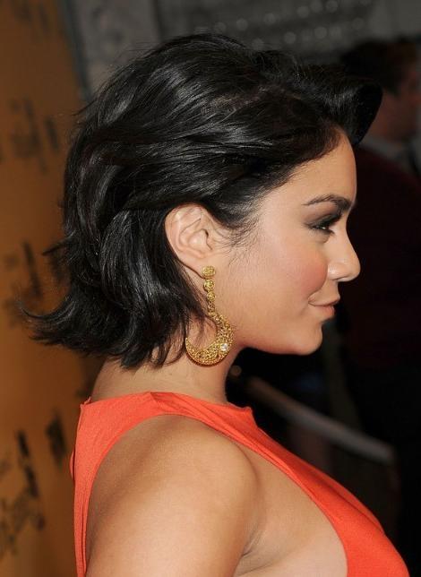 Vanessa Hudgens Short Curled Out Bob Hairstyle – Hairstyles Weekly With Regard To Best And Newest Vanessa Hudgens Bob Hairstyles (View 12 of 15)