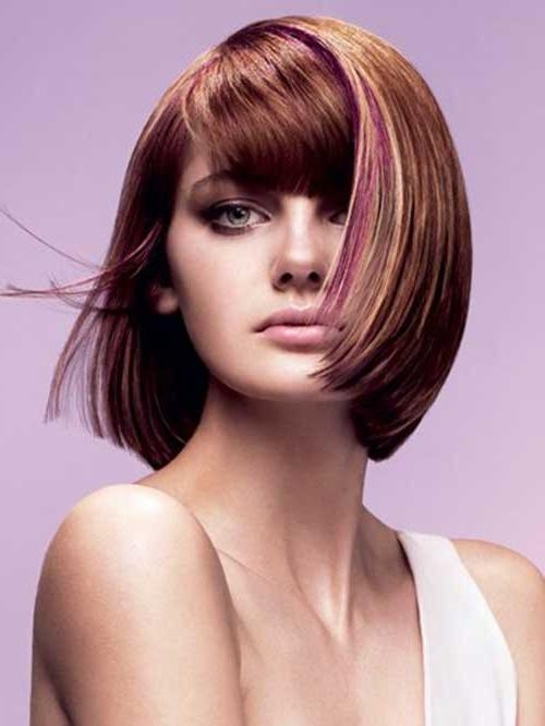 Vidal Sassoon Bob Haircut With Pink Highlighted Colors Also Short With Vidal Sassoon Long Hairstyles (View 9 of 15)