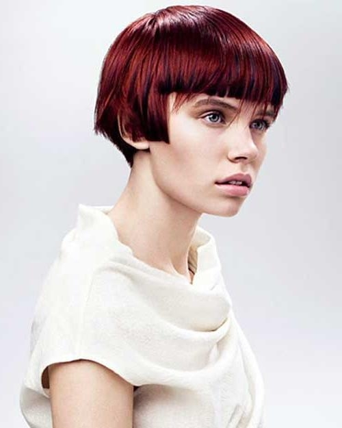 Vidal Sassoon Hair Also Red Blunt Highlighted Bob Style With Bangs With Regard To Vidal Sassoon Long Hairstyles (View 11 of 15)