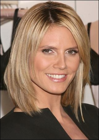 Want To Look Younger? Heidi Klum Has The Best Haircut For You In Intended For Recent Heidi Klum Shoulder Length Bob Hairstyles (View 13 of 15)