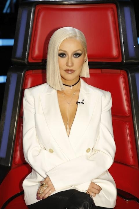 Well Known Christina Aguilera Shoulder Length Bob Hairstyles Intended For Christina Aguilera Shoulder Length Bob — Christina Aguilera (View 15 of 15)