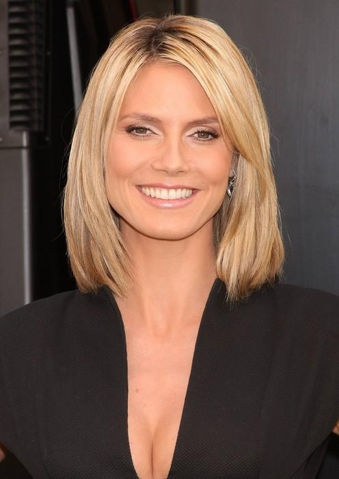 Well Liked Celebrity Bob Haircuts Within Celebrity Bob Hairstyles: Heidi Klum Longer Bob Hairstyle – Pretty (View 15 of 15)