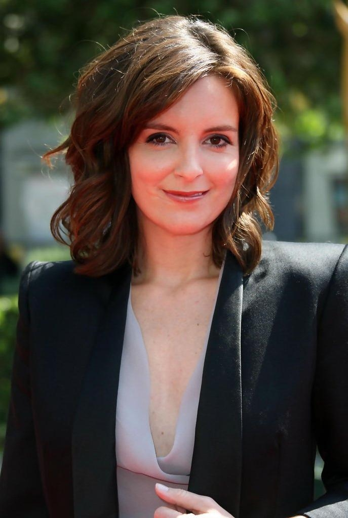 Well Liked Tina Fey Shoulder Length Bob Hairstyles Inside Tina Fey Shoulder Length Hairstyles – Tina Fey Hair – Stylebistro (View 14 of 15)