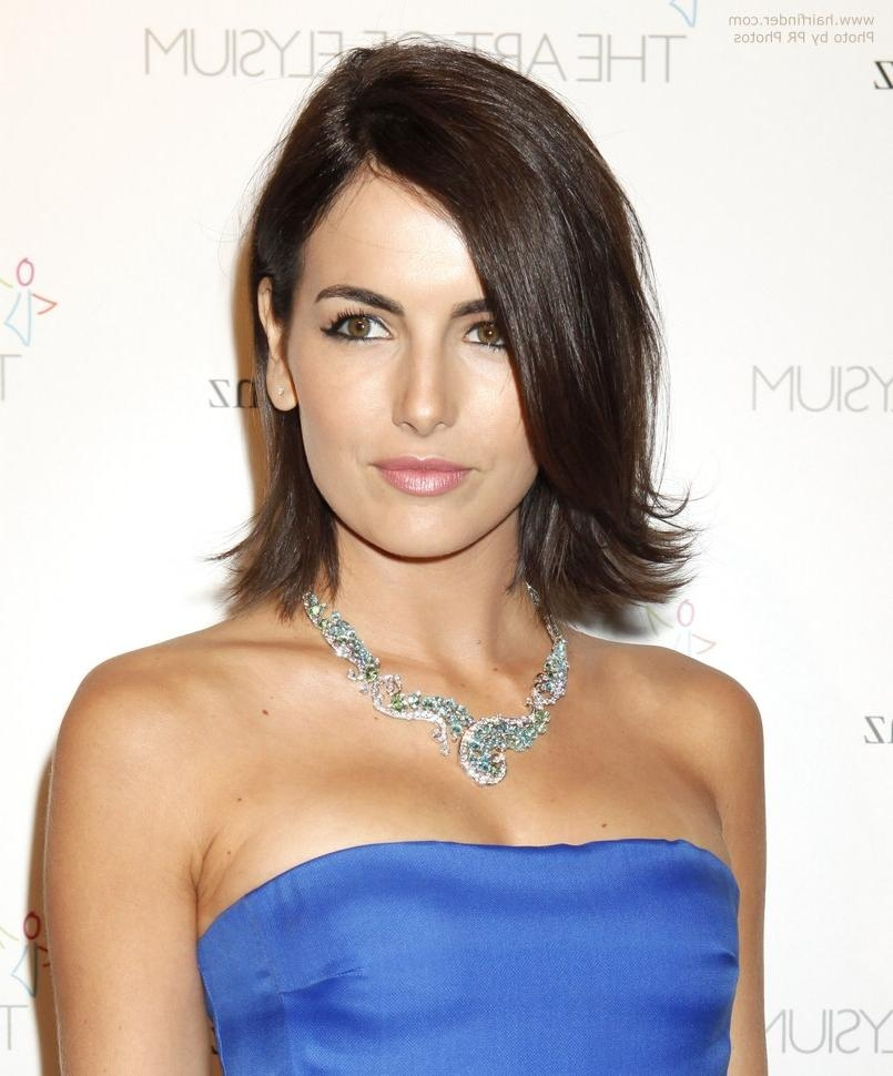 Young And Fresh Medium Length Hairstyle With Layers Pertaining To 2017 Camilla Belle Shoulder Length Bob Hairstyles (View 15 of 15)
