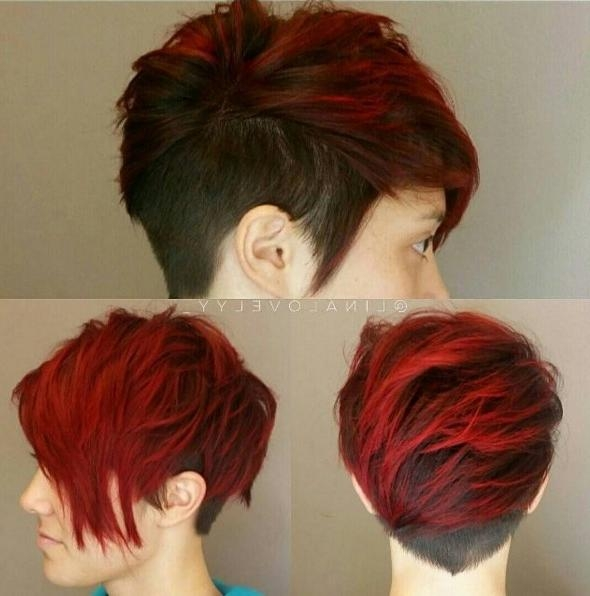 10 Adorable Short Hairstyle Ideas: 2018 Haircuts For Women Short Hair Inside Short Haircuts With Red Color (View 15 of 20)