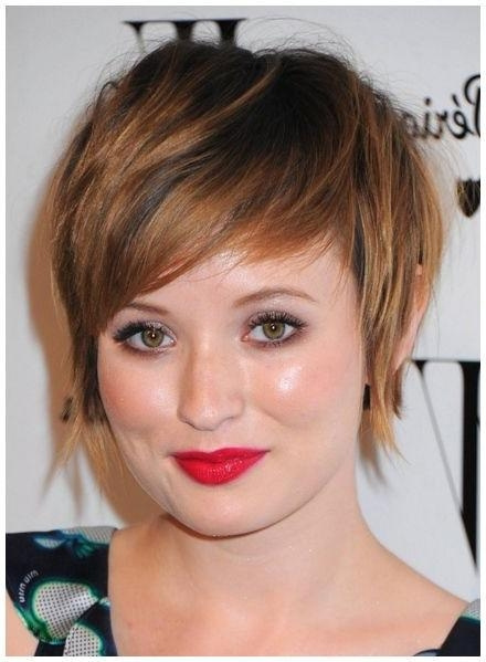 10 Best Flattering Haircuts For Round Faces Ladies – Hairzstyle With Flattering Short Haircuts For Round Faces (View 1 of 20)