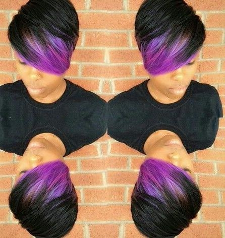 10 Best Purple Images On Pinterest | Hair Ideas, Hairstyle And Hair Regarding Purple And Black Short Hairstyles (View 1 of 20)