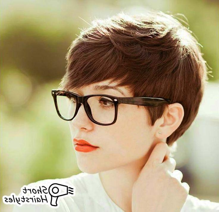 102 Best Shorty Images On Pinterest | Hairstyles, Short Hair And With Short Hairstyles For Glasses Wearers (View 1 of 20)
