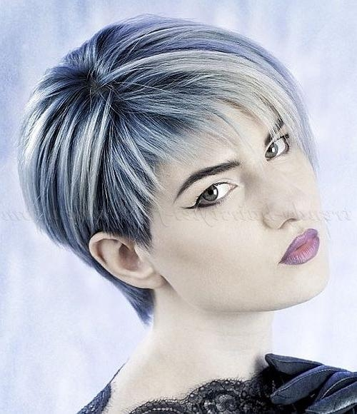 11 Best Going Gray The Funky Way Images On Pinterest | Hairstyles Within Ladies Short Hairstyles With Fringe (View 1 of 20)